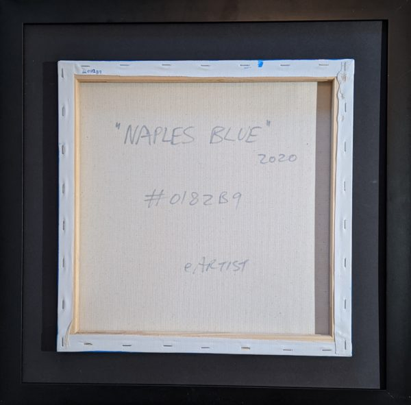 "Naples Blue 14"" x 14"" 2020 eArtist"